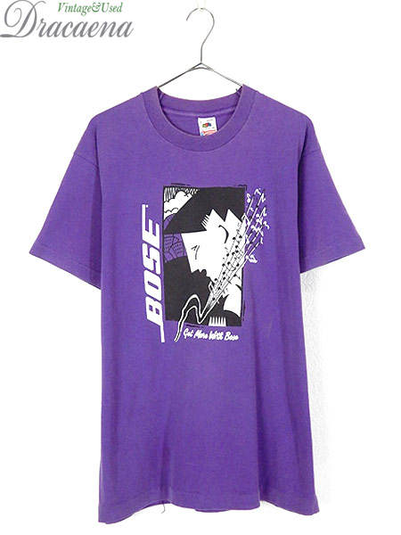 [1] 古着 Tシャツ 90s USA製 BOSE ボーズ 「Get More With Bose」 スピーカー 音響 ミュージック Tシャツ L 古着