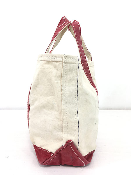 [4] 雑貨 古着 70s 筆記体 LL Bean ビーン 「Boat and Tote」 キャンバス トート バッグ 中型 古着