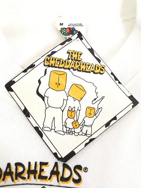 [7] 「Deadstock」 古着 80s USA製 「THE CHEDDARHEADS」 チーズ ポップ アート スウェット M 古着