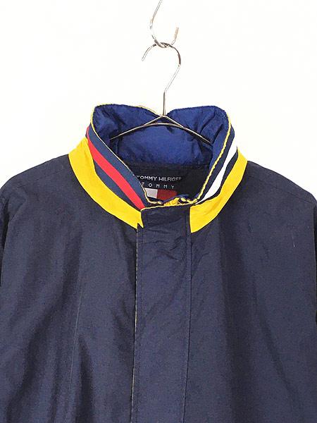 [2] 古着 90s TOMMY HILFIGER BIG ロゴ & パッチ 2way シェル ジャケット ブルゾン M 古着