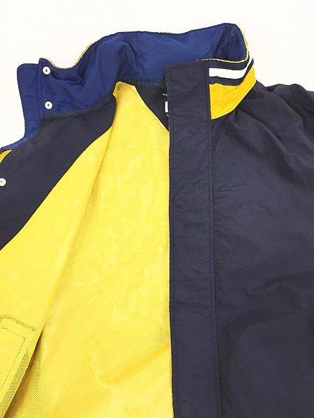 [7] 古着 90s TOMMY HILFIGER BIG ロゴ & パッチ 2way シェル ジャケット ブルゾン M 古着