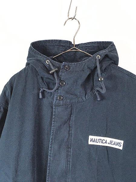 [2] 古着 Nautica Jeans 裏地キルティング フィッシュテール モッズ パーカー コート XL 古着