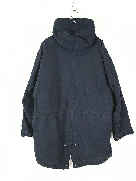 [4] 古着 Nautica Jeans 裏地キルティング フィッシュテール モッズ パーカー コート XL 古着