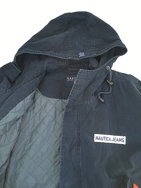 [6] 古着 Nautica Jeans 裏地キルティング フィッシュテール モッズ パーカー コート XL 古着