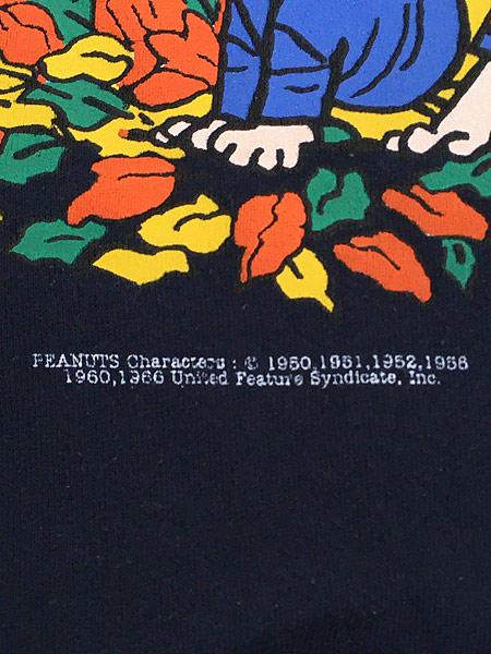 [6] 古着 90s USA製 Snoopy スヌーピー 組体操 キャラクター スウェット トレーナー L 古着
