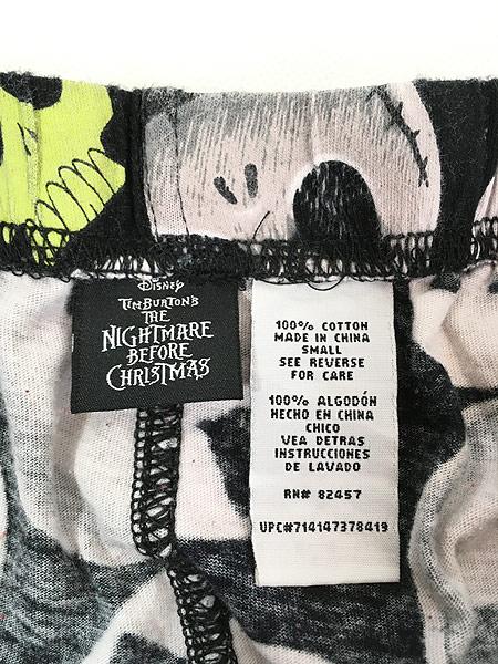 [6] 古着 Disney The Nightmare Before Christmas ジャック 総柄 パジャマ パンツ S 古着
