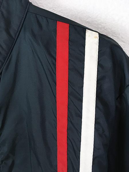 [3] 古着 60s USA製 チェッカー フラッグ サイド ライン オールド ナイロン レーシング ジャケット L 古着