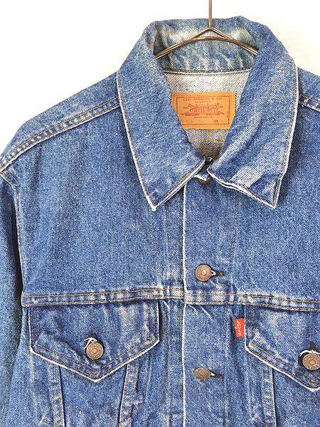 [2] 古着 80s USA製 Levi's 70506 ハンド ポケット付 デニム ジャケット Gジャン 40 古着