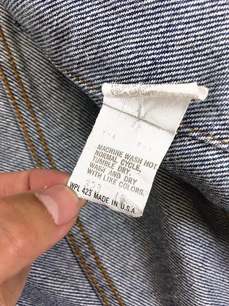 [8] 古着 80s USA製 Levi's 70506 ハンド ポケット付 デニム ジャケット Gジャン 40 古着
