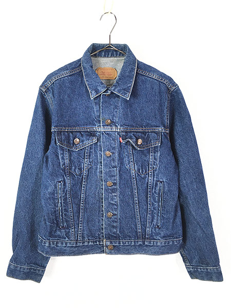 [1] 古着 80s USA製 Levi's 70506 ハンド ポケット付 濃紺 デニム ジャケット Gジャン 42R 古着