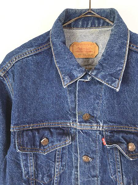 [2] 古着 80s USA製 Levi's 70506 ハンド ポケット付 濃紺 デニム ジャケット Gジャン 42R 古着