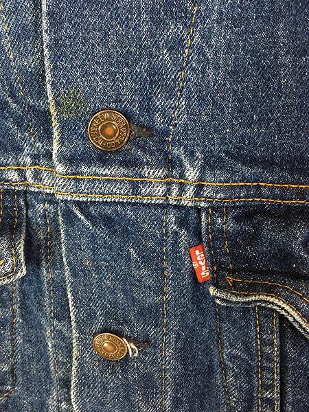 [3] 古着 80s USA製 Levi's 70506 ハンド ポケット付 濃紺 デニム ジャケット Gジャン 42R 古着