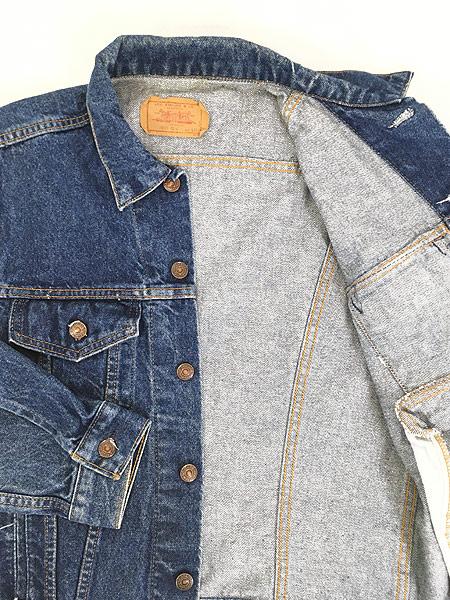 [6] 古着 80s USA製 Levi's 70506 ハンド ポケット付 濃紺 デニム ジャケット Gジャン 42R 古着
