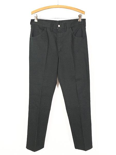 [1] 古着 70s BIG YANK ブラック コットンツイル スリム パンツ 黒!! W32 L29.5 美品!! 古着
