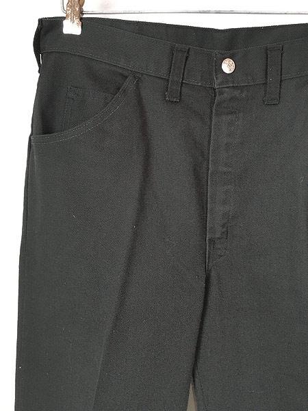 [2] 古着 70s BIG YANK ブラック コットンツイル スリム パンツ 黒!! W32 L29.5 美品!! 古着