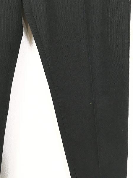 [3] 古着 70s BIG YANK ブラック コットンツイル スリム パンツ 黒!! W32 L29.5 美品!! 古着