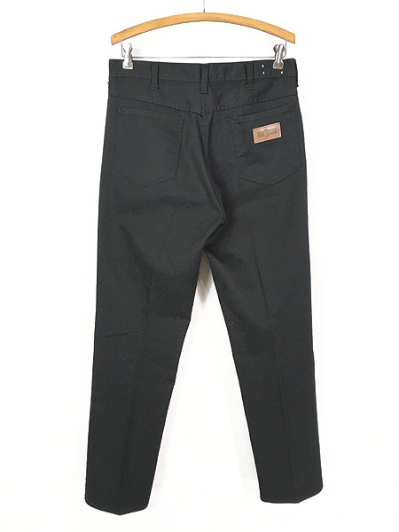 [4] 古着 70s BIG YANK ブラック コットンツイル スリム パンツ 黒!! W32 L29.5 美品!! 古着