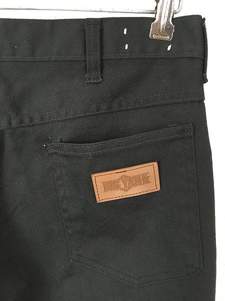 [5] 古着 70s BIG YANK ブラック コットンツイル スリム パンツ 黒!! W32 L29.5 美品!! 古着