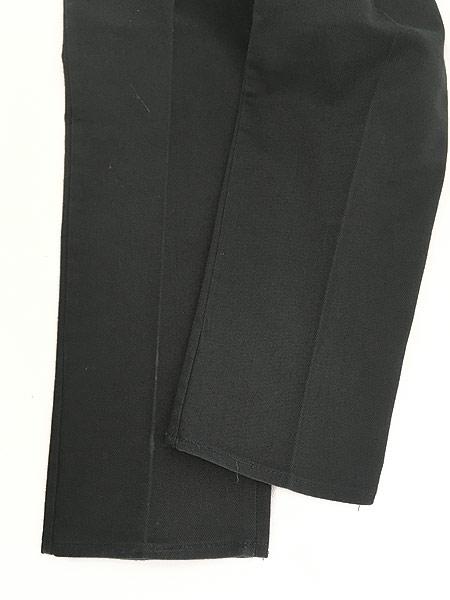 [6] 古着 70s BIG YANK ブラック コットンツイル スリム パンツ 黒!! W32 L29.5 美品!! 古着