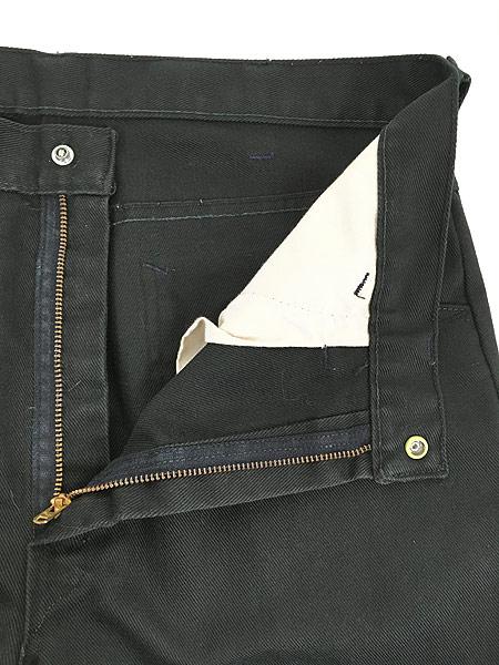 [7] 古着 70s BIG YANK ブラック コットンツイル スリム パンツ 黒!! W32 L29.5 美品!! 古着