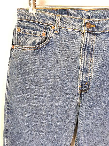 [2] 古着 90s USA製 Levi's 512 ブルー デニム パンツ ジーンズ テーパード W35 L30 古着