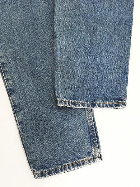 [5] 古着 90s USA製 Levi's 512 ブルー デニム パンツ ジーンズ テーパード W35 L30 古着