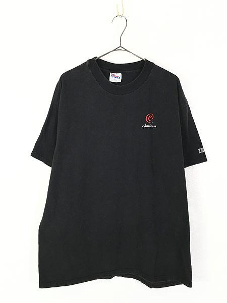 [1] 古着 90-00s IBM 「e-business」 アイビーエム ワンポイント Tシャツ XL 古着
