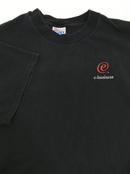 [4] 古着 90-00s IBM 「e-business」 アイビーエム ワンポイント Tシャツ XL 古着
