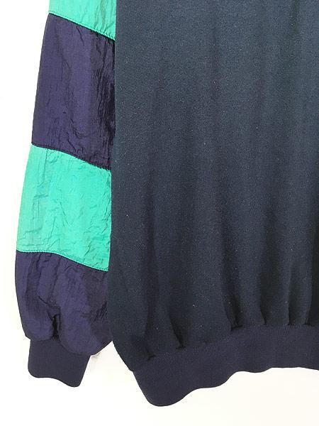 [3] 古着 80s Christian Dior MONSIEUR ナイロン 切替 襟付 プルオーバー スウェット L ブランド 古着