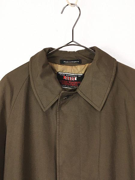 [2] 古着 70s 英国製 BARACUTA 「Diolen Cotton」 比翼 ステンカラー トレンチ コート 40位 古着