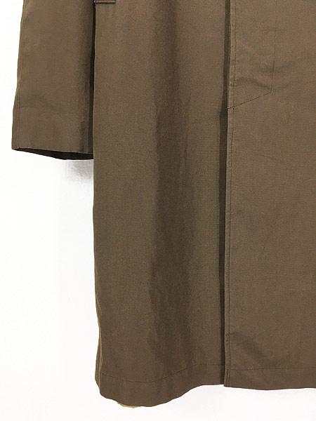 [3] 古着 70s 英国製 BARACUTA 「Diolen Cotton」 比翼 ステンカラー トレンチ コート 40位 古着