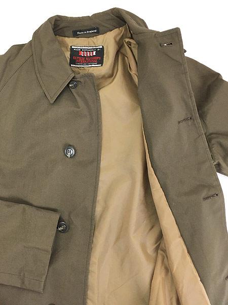 [5] 古着 70s 英国製 BARACUTA 「Diolen Cotton」 比翼 ステンカラー トレンチ コート 40位 古着