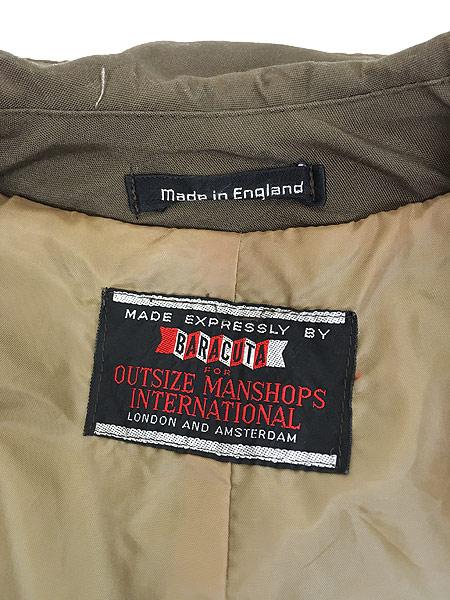 [6] 古着 70s 英国製 BARACUTA 「Diolen Cotton」 比翼 ステンカラー トレンチ コート 40位 古着