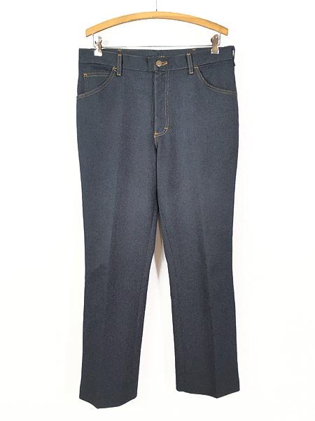 [1] 古着 80s USA製 Lee 200-4046 デニム テイスト スラックス パンツ ブーツカット W35 L30 古着