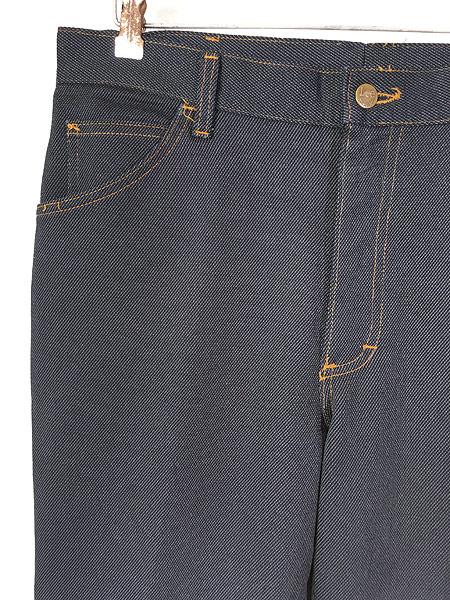 [2] 古着 80s USA製 Lee 200-4046 デニム テイスト スラックス パンツ ブーツカット W35 L30 古着