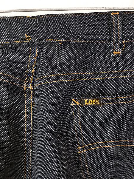 [4] 古着 80s USA製 Lee 200-4046 デニム テイスト スラックス パンツ ブーツカット W35 L30 古着