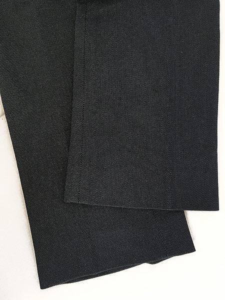 [5] 古着 80s USA製 Lee 200-4046 デニム テイスト スラックス パンツ ブーツカット W35 L30 古着
