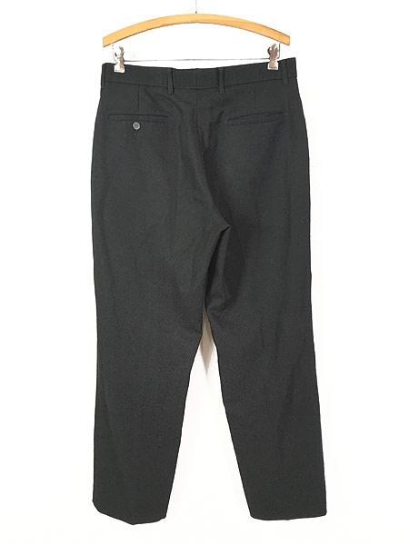 [3] 古着 90s Levi's Action Slacks 光沢 スラックス パンツ スリム!! 黒 W33 L30 古着