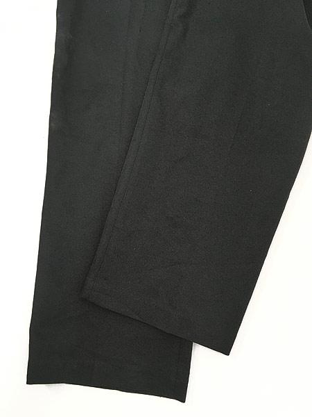 [5] 古着 90s Levi's Action Slacks 光沢 スラックス パンツ スリム!! 黒 W33 L30 古着