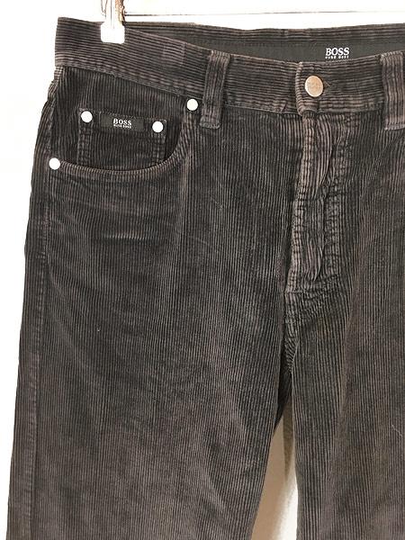 [2] 古着 90s ルーマニア製 HUGO BOSS 5ポケット コーデュロイ パンツ コーズ ストレート W33 L31 古着