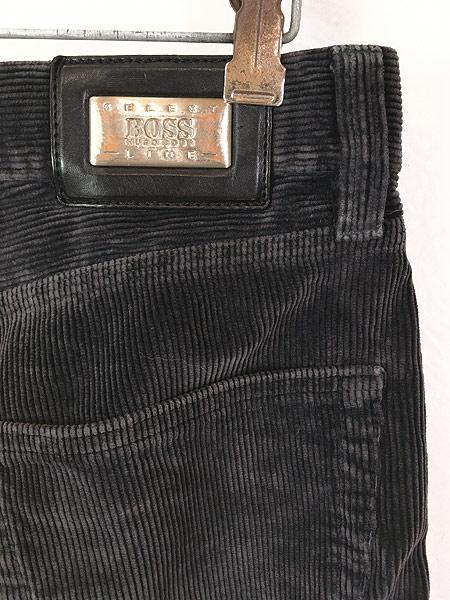 [4] 古着 90s ルーマニア製 HUGO BOSS 5ポケット コーデュロイ パンツ コーズ ストレート W33 L31 古着