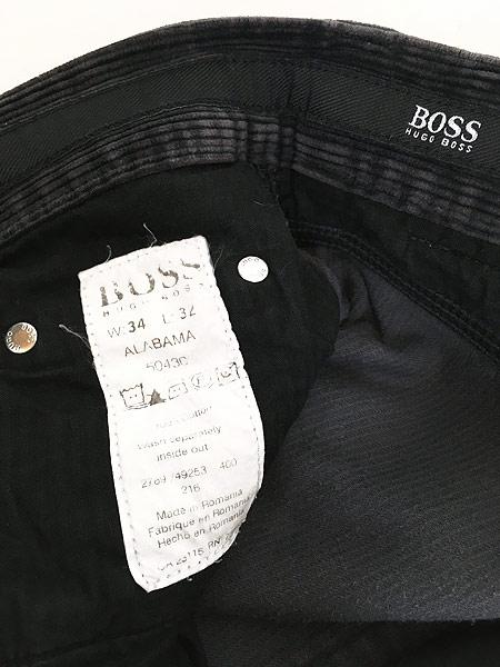 [7] 古着 90s ルーマニア製 HUGO BOSS 5ポケット コーデュロイ パンツ コーズ ストレート W33 L31 古着