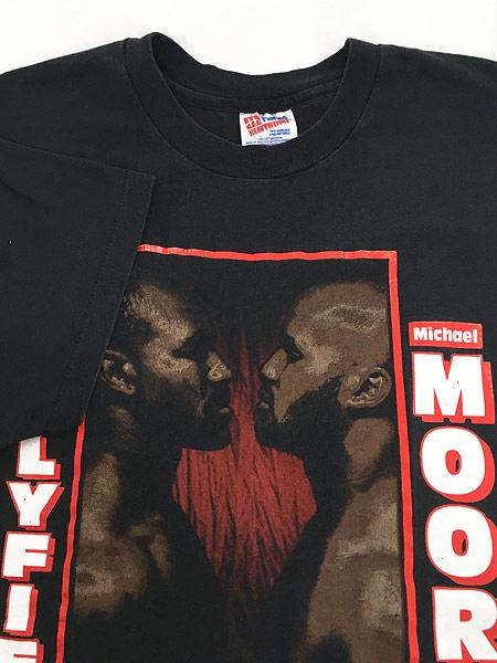 [4] 古着 90s WBA Holyfield vs Moorer ホリフィールド モーラー チャンピオンシップ ボクシング Tシャツ XL 古着