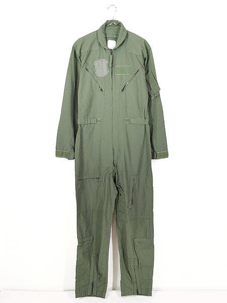 [1] 古着 10s 米軍 CWU-27/P ミリタリー 難燃 アラミド サマー フライト スーツ つなぎ 40L 古着
