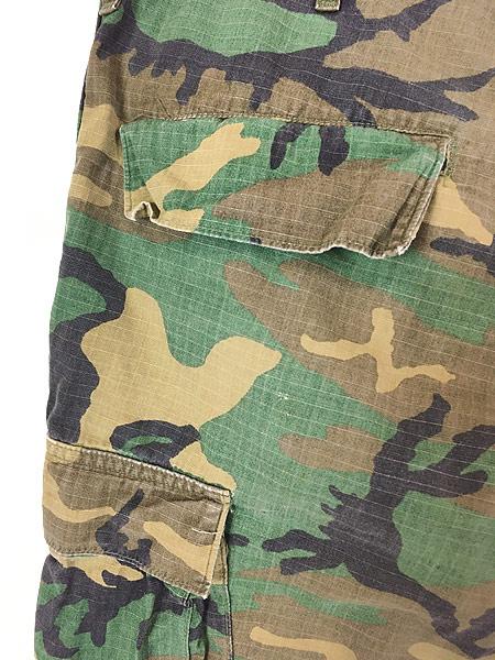 [5] 古着 70s 米軍 リーフ カモ 迷彩 POPLIN ミリタリー トロピカル ジャングル カーゴ パンツ S-R 古着