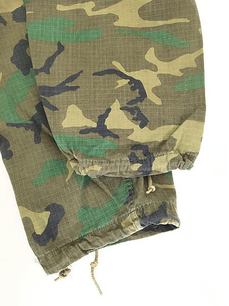 [6] 古着 70s 米軍 リーフ カモ 迷彩 POPLIN ミリタリー トロピカル ジャングル カーゴ パンツ S-R 古着