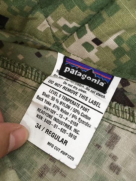 [9] 古着 13s Patagonia 米軍 特殊部隊 SOF Level9 Temperate ミリタリー コンバット パンツ 34R 古着