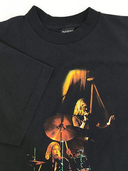 [4] 古着 90s Hanson ライブ フォト ポップ ロック バンド Tシャツ L 古着