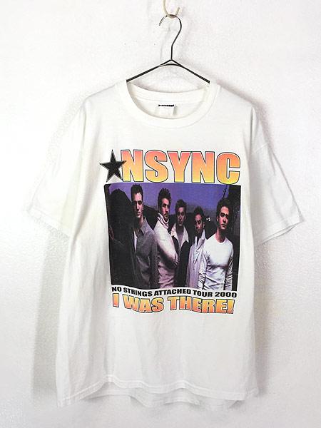 [1] 古着 00s NSYNC 「No Strings Attached Tour」 ツアー アイドル ポップ ミュージック Tシャツ XL 古着