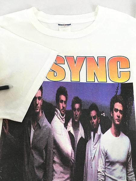 [4] 古着 00s NSYNC 「No Strings Attached Tour」 ツアー アイドル ポップ ミュージック Tシャツ XL 古着